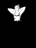 Bluzka z dekoltem w karo b. rękawów