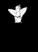 Bluzka z dekoltem w karo z rękawem
