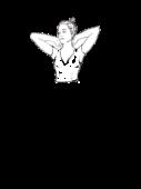 Bluzka z dekoltem w szpic z krótkim rękawem