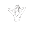 Bluzka z dekoltem w szpic z rękawem