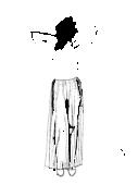 Spódnica marczczona długa