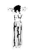 Spódnica marszczona długa z rozporkiem