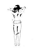 Spódnica ołówkowa do kolan z baskinką